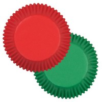 Wilton Baking cups Red and green 75 pcs
