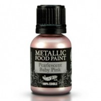 RD Metallic Food Paint Pearlescent Baby Pink 25ml