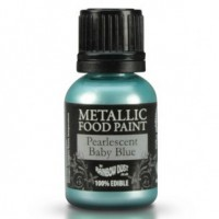 RD Metallic Food Paint Pearlescent Baby Blue 25ml