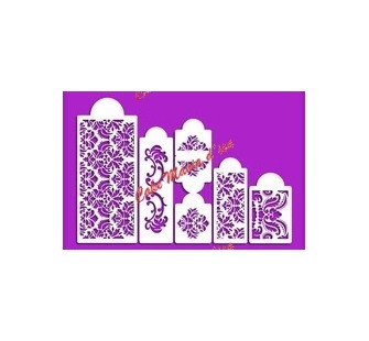 44-024 Set de 6 stencil baroque