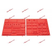 SET HSH08 - SET SILICONE MOULD MAGIC TRAIN A+B